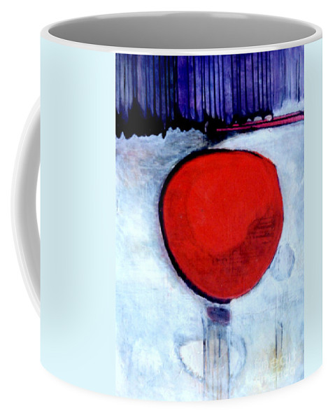Red Coffee Mug featuring the painting Red Twin Jump Start by Marlene Burns
