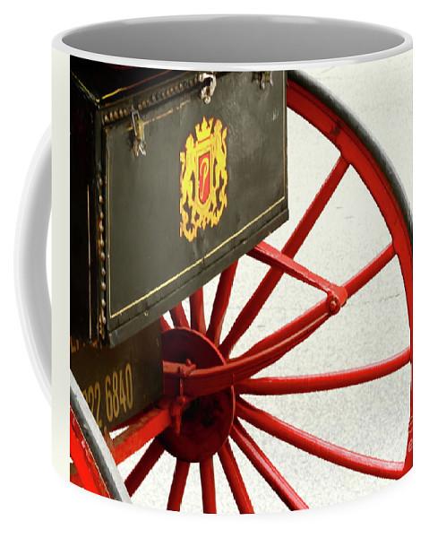 Wheel Coffee Mug featuring the photograph Red Wheel by Rick Monyahan