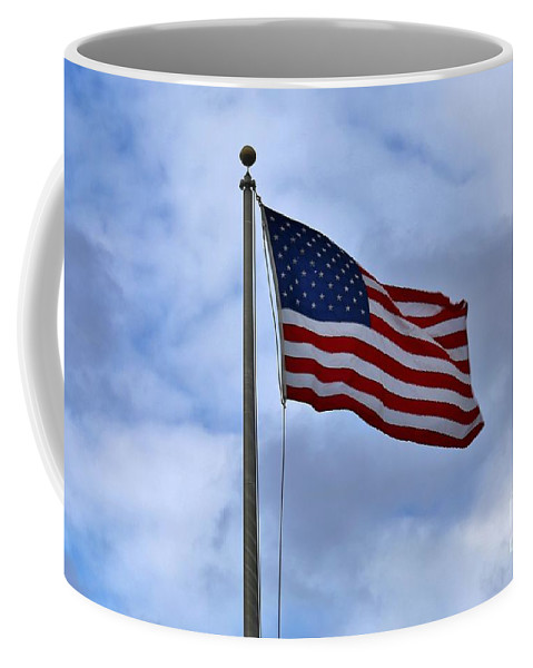 Patriotism Coffee Mug featuring the photograph Red White And Blue by Douglas Sacha