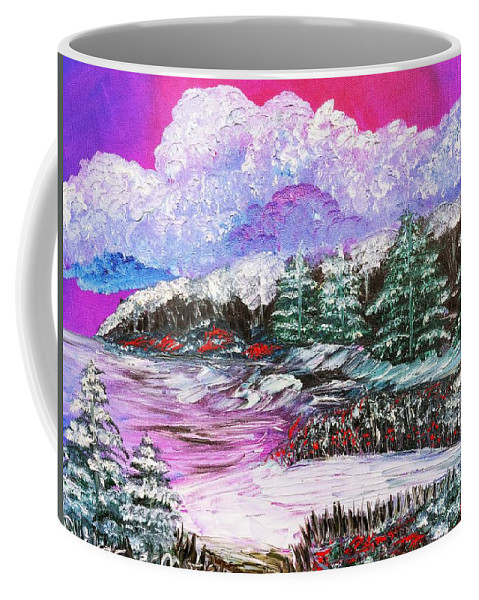 Red Berries Coffee Mug featuring the painting Red Winter Berries by Elizabeth Goodermote