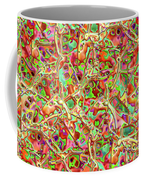 Colors Coffee Mug featuring the digital art Red With Green by Ron Bissett