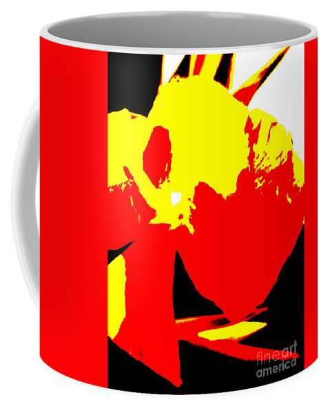 Abstract Coffee Mug featuring the photograph Red Yellow Abstract by Eric Schiabor