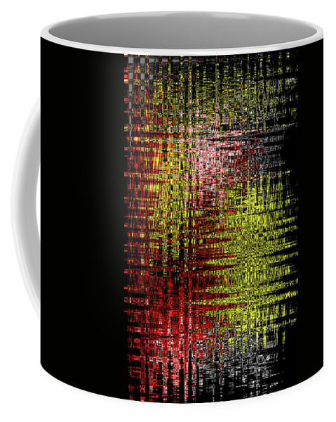 Red Yellow White Black Abstract Coffee Mug featuring the photograph Red Yellow White Black Abstract by Tom Janca