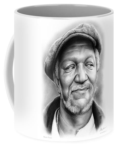 Redd Foxx Coffee Mug featuring the drawing Redd Foxx by Greg Joens