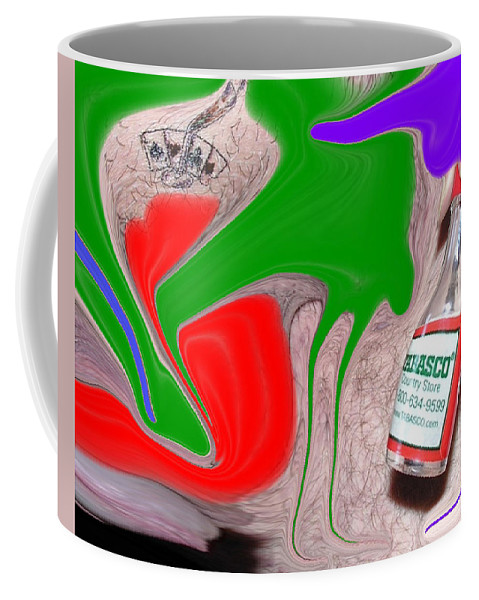 Redneck Coffee Mug featuring the photograph Redneck Fear by Allan Hughes
