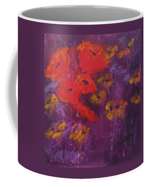 Flower Coffee Mug featuring the painting Red's My Color by Terri Einer