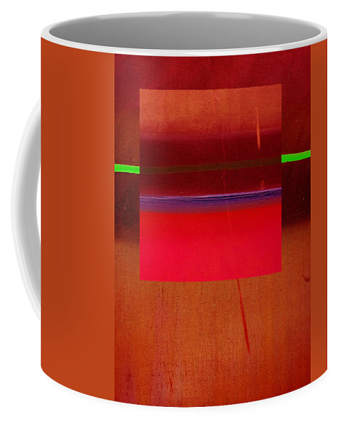 Landscape Coffee Mug featuring the painting Redscape by Charles Stuart