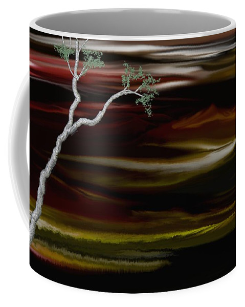 Digital Landscape Coffee Mug featuring the digital art Redscape by David Lane