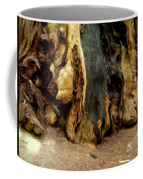 Redwoods Coffee Mug featuring the photograph Redwood Abstract by Alan Kepler