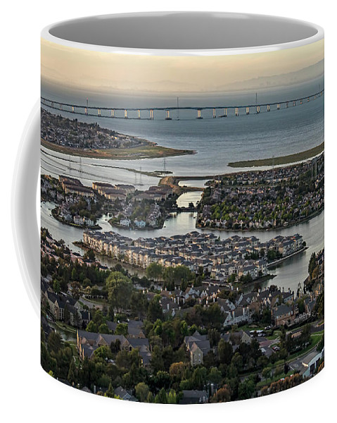Redwood City Coffee Mug featuring the photograph Redwood City, California Aerial by David Oppenheimer