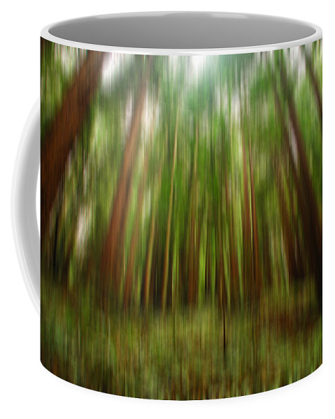 Redwoods Coffee Mug featuring the digital art Redwoods by Donna Blackhall