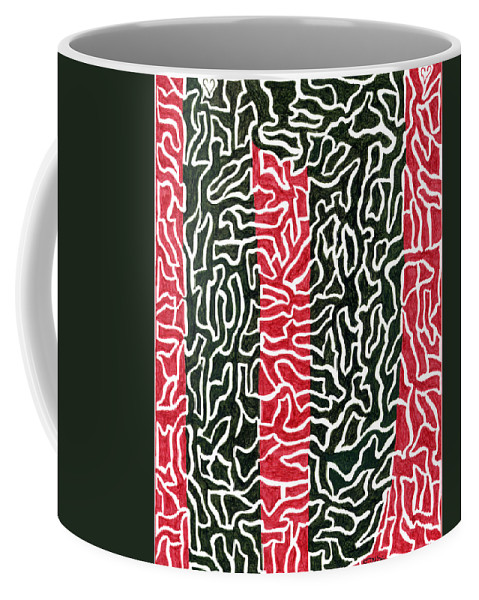 Mazes Coffee Mug featuring the drawing Redwoods by Steven Natanson