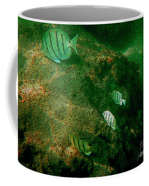 Fish Coffee Mug featuring the digital art Reef Life Off Hawaii by Tommy Anderson