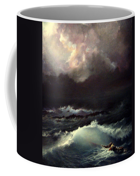Seascape Coffee Mug featuring the painting Reef by Mikhail Savchenko