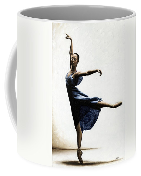 Dancer Coffee Mug featuring the painting Refined Grace by Richard Young