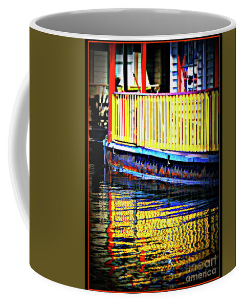 Float Home Coffee Mug featuring the photograph Reflect Me Red by Dorothy Hilde