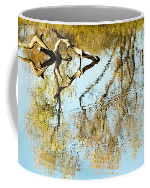 Rivers Coffee Mug featuring the photograph Reflecting A Former Life by Norman Andrus