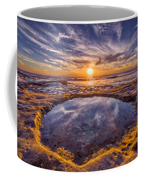 Beach Coffee Mug featuring the photograph Reflecting Pool by Peter Tellone
