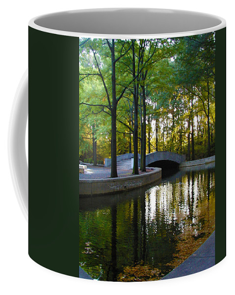 Washington Coffee Mug featuring the photograph Reflecting Pool Roosevelt Park by Bill Cannon