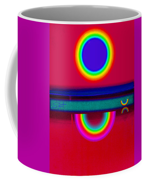 Reflections Coffee Mug featuring the painting Reflectins On A Sunset by Charles Stuart