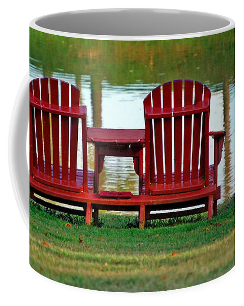 Chairs Coffee Mug featuring the photograph Reflection by Debbi Granruth