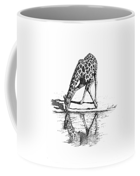 Jennifer Campbell Brewer Coffee Mug featuring the drawing A Tall Drink Of Water by Jennifer Campbell Brewer