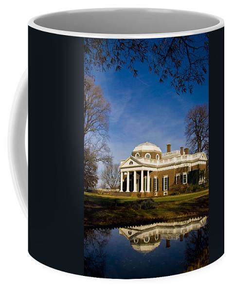 Landmarks Coffee Mug featuring the photograph Reflection Of Monticello by Ches Black