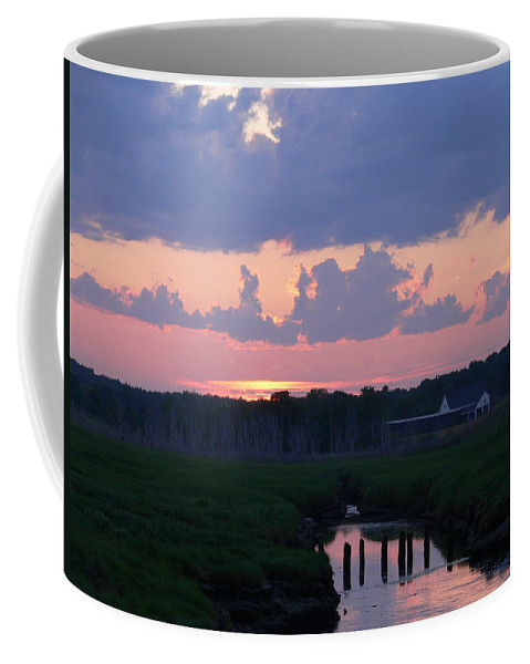 New England Coffee Mug featuring the photograph Reflection Of The Day by Nancie DeMellia