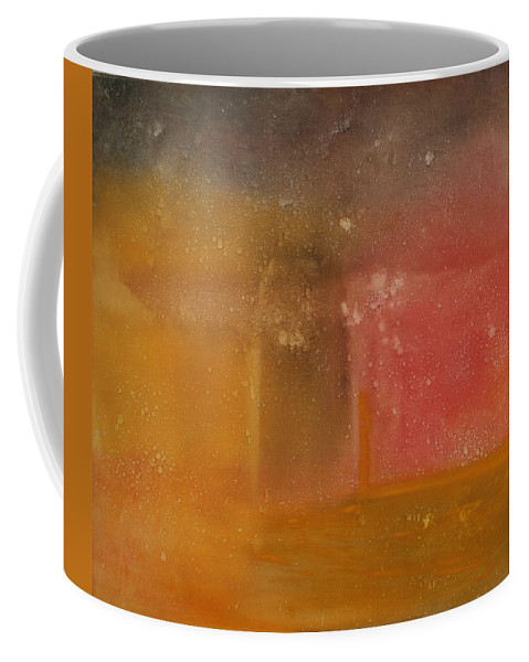 Storm Summer Red Yellow Gold Coffee Mug featuring the painting Reflection Summer Storm by Jack Diamond