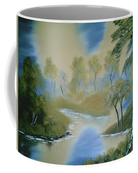 Bright Sky Coffee Mug featuring the painting Reflections 2 by Jim Saltis