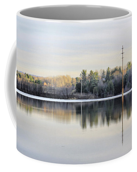 Water Coffee Mug featuring the photograph Reflections Across The Water by Deborah Benoit