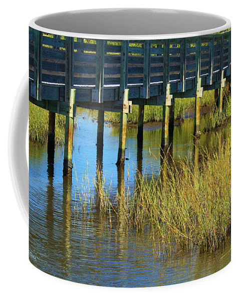 Roena King Coffee Mug featuring the photograph Reflections And Sea Grass by Roena King