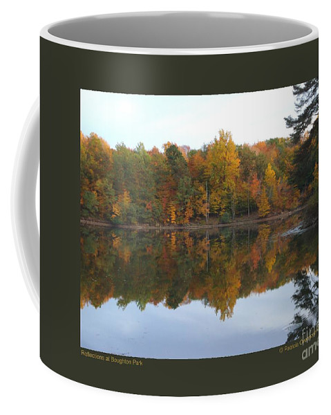 Landscape Coffee Mug featuring the photograph Reflections At Boughton Park by Patricia Overmoyer
