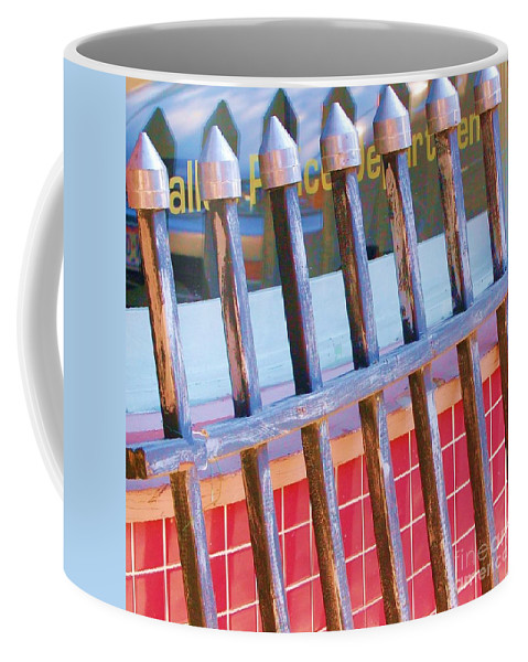Gate Coffee Mug featuring the photograph Reflections by Debbi Granruth