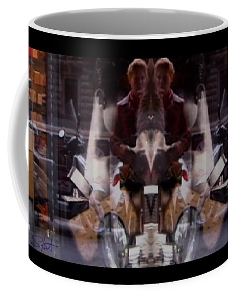 Dream Coffee Mug featuring the photograph Reflections In A Pharmacy Window by Charles Stuart