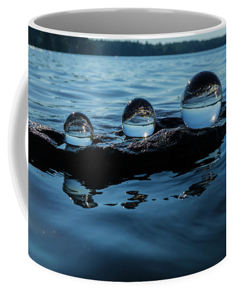 Crystal Balls Coffee Mug featuring the photograph Reflections In Crystal by Linda Howes
