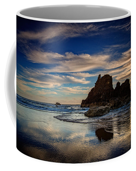 Sunset Coffee Mug featuring the photograph Reflections Of Arcadia by Rick Berk