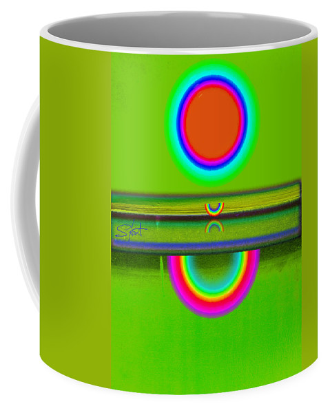 Reflections Coffee Mug featuring the painting Reflections On Green by Charles Stuart
