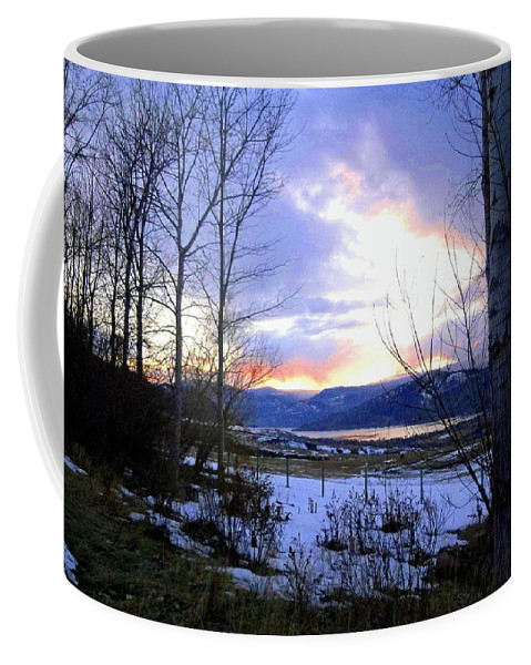 Sunset Coffee Mug featuring the photograph Reflections On Lake Okanagan by Will Borden