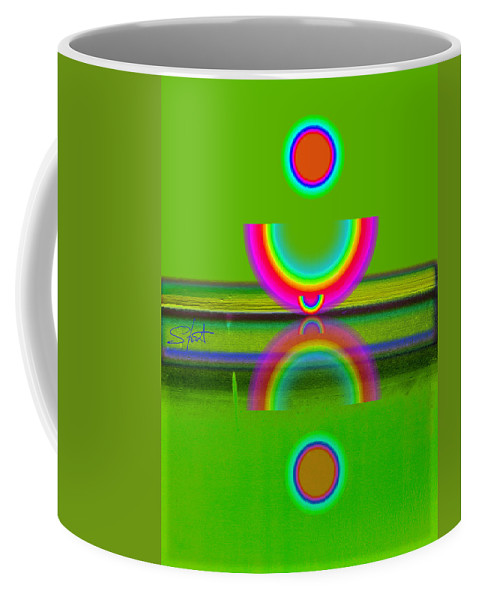Reflections Coffee Mug featuring the painting Reflections On Lime by Charles Stuart