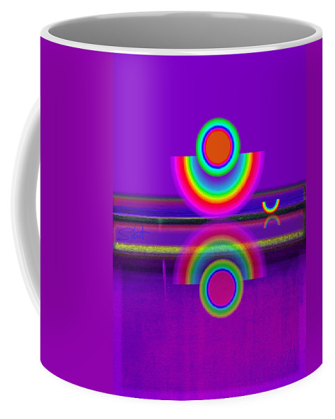 Reflections Coffee Mug featuring the painting Reflections On Mauve by Charles Stuart