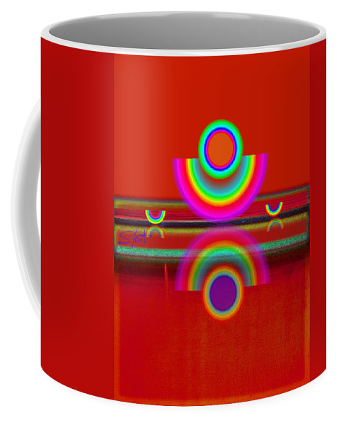 Reflections Coffee Mug featuring the painting Reflections On Red by Charles Stuart