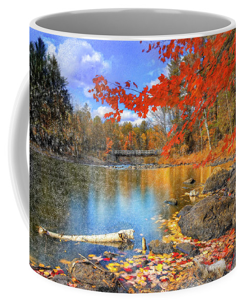 River Coffee Mug featuring the digital art Reflections by Renee Skiba