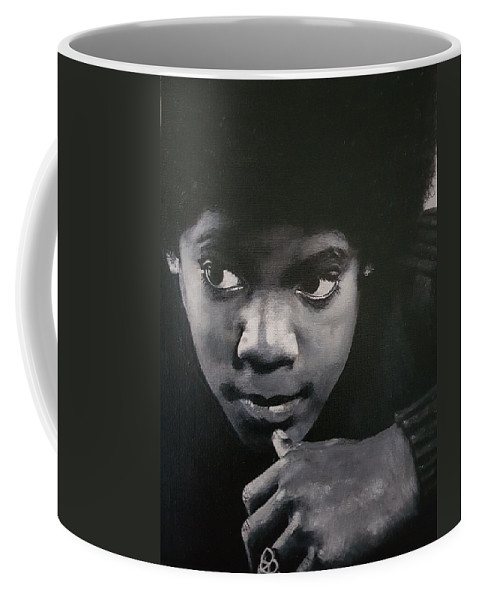 Michael Jackson Coffee Mug featuring the painting Reflective Mood by Cassy Allsworth