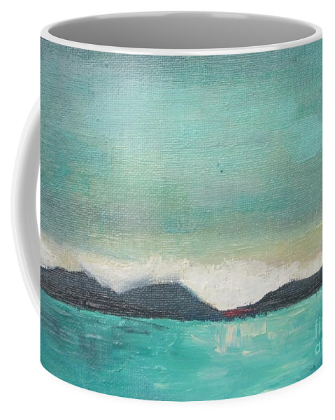 Sea Coffee Mug featuring the painting Reflection Azure by Vesna Antic