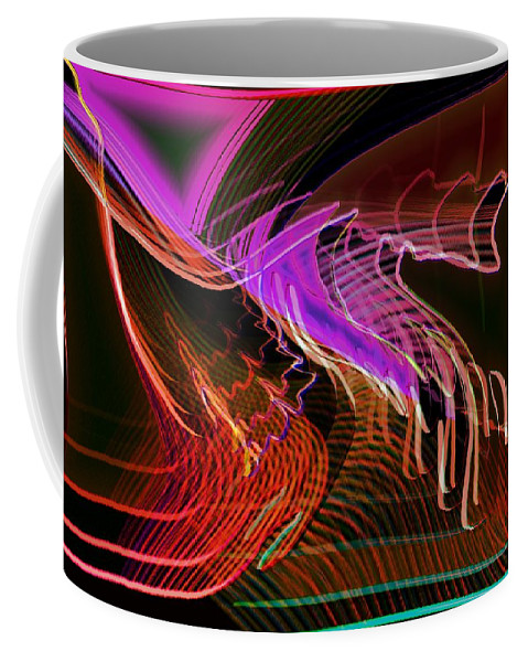 Drawing Coffee Mug featuring the digital art Reflexions Red by Helmut Rottler