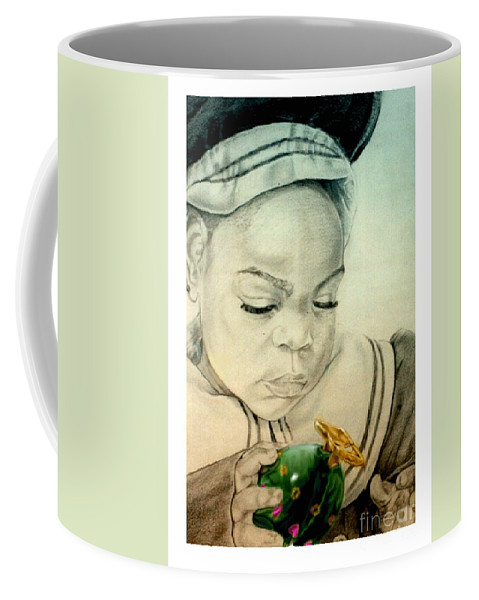 Child Coffee Mug featuring the drawing Regi by Reggie Duffie