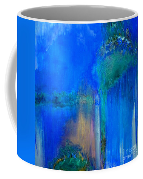 Regret Time Coffee Mug featuring the painting Regret Time by Dragica Micki Fortuna