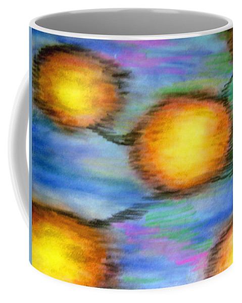 Coffee Mug featuring the drawing Reincarnation by Jan Gilmore