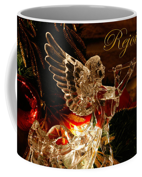 Angel Coffee Mug featuring the photograph Rejoice Crystal Angel by Denise Beverly
